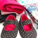 Zapatitos de lunares, curso de ropa para bebe