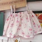 Falda estampada niñas,curso de ropa para bebe