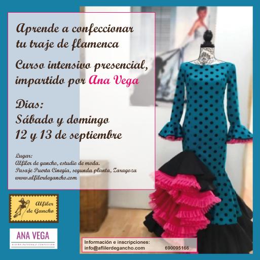 Curso intensivo presencial de confección de traje flamenca